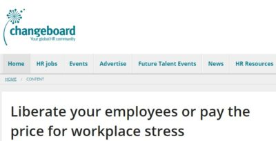 Our Changeboard Op-ed on Work Stress